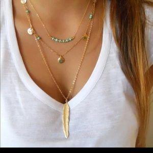 COPY - Boho layering leaf bead necklace boutique …